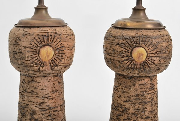 15: Pair of Leopold Anzengruber Stoneware Lamps - 3