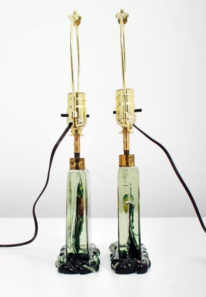 "25: Rare Pair of ""Aquarium"" Lamps by Alfredo Barbini - 3"