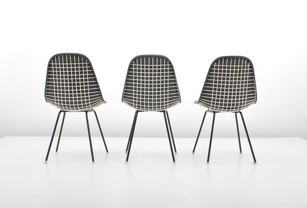 97: Charles & Ray Eames, Set of 3 Chairs - 3