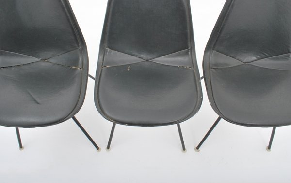97: Charles & Ray Eames, Set of 3 Chairs - 6