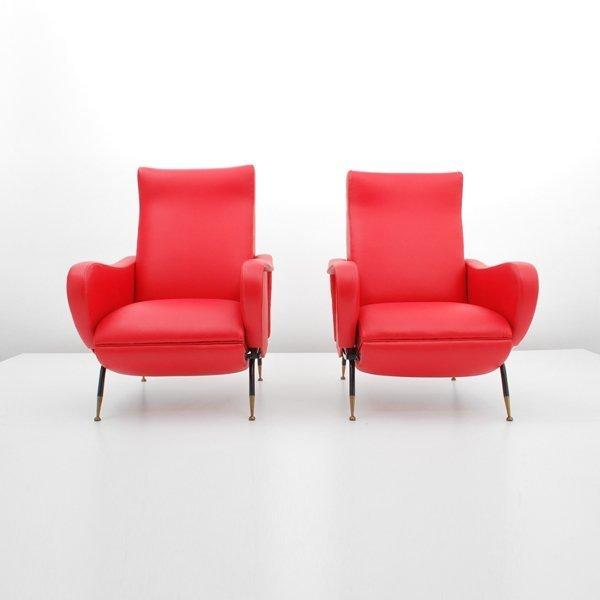 190: Pair of Fabio Lenci Reclining Chairs