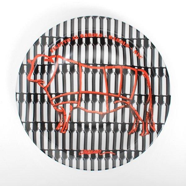 """203: """"Filetto Al Barolo-Barolo-NYC"""" Plate by Arman"""