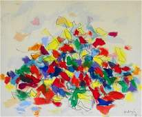 340: Early Robert Goodnough Abstract Painting