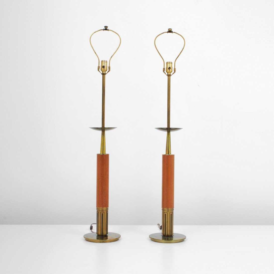Pair of stiffel lamps tommi parzinger
