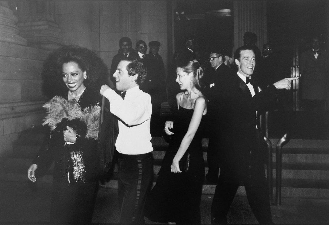 4: Steve Rubell, Diana Ross, Halston Photo
