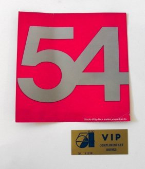 22: Studio 54 Drink Ticket; New Year's Invitation
