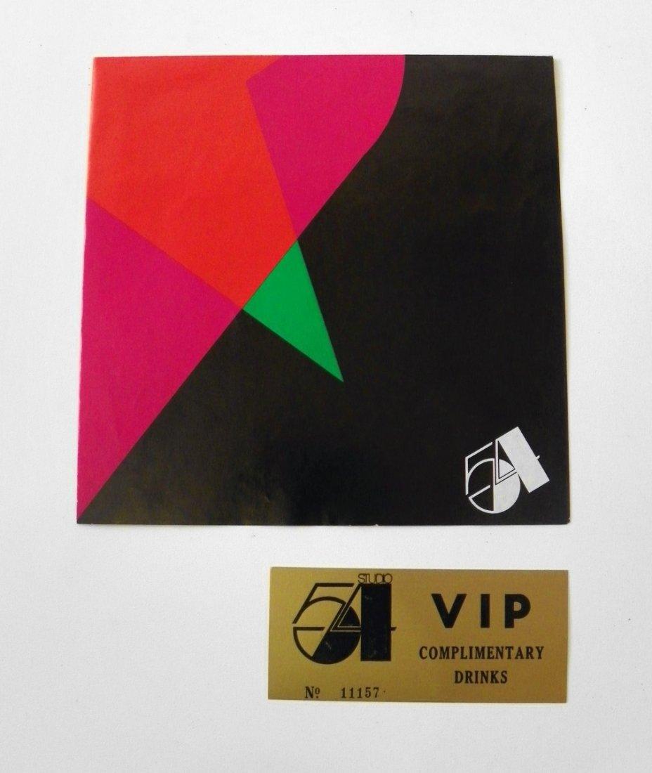 23: Studio 54 Drink Ticket; Invitation