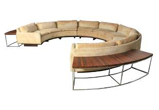 72: Milo Baughman Sectional Sofa & Tables