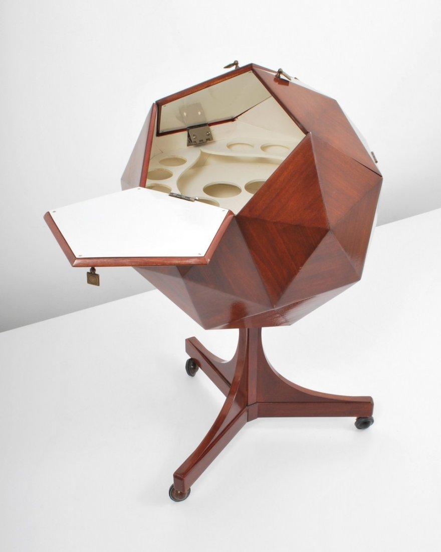 153: Multifaceted Sphere Bar, Ico Parisi - 2