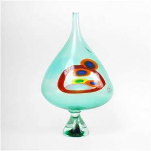 "161: Rare Anzolo Fuga ""Murrine"" Vase, 18""h"