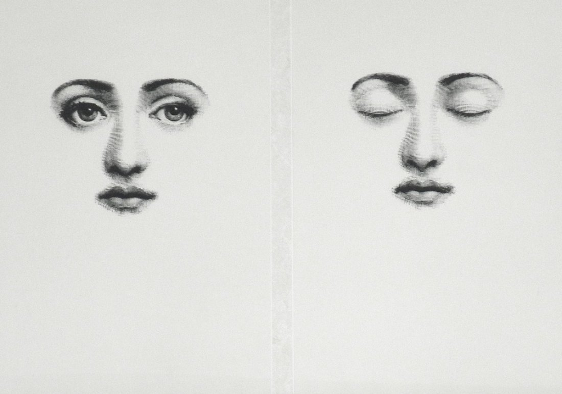 Fornasetti Art Prints Two Framed Piero Fornasetti Prints