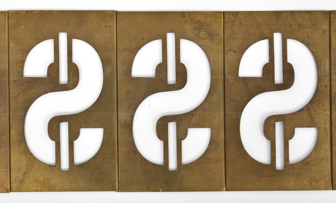 319: Signed Andy Warhol Dollar Sign Metal Sculpture - 2
