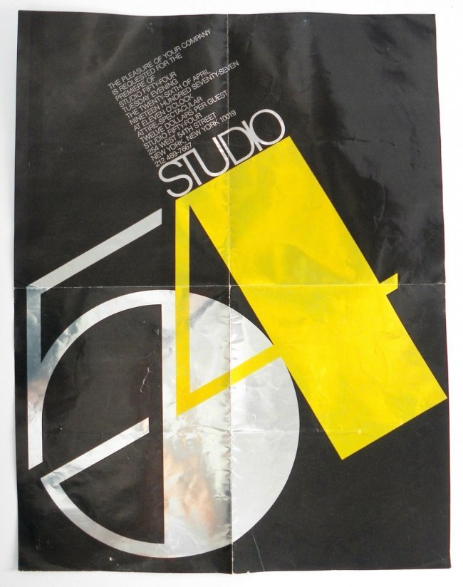 402: Poster Invitation, Studio 54 Opening