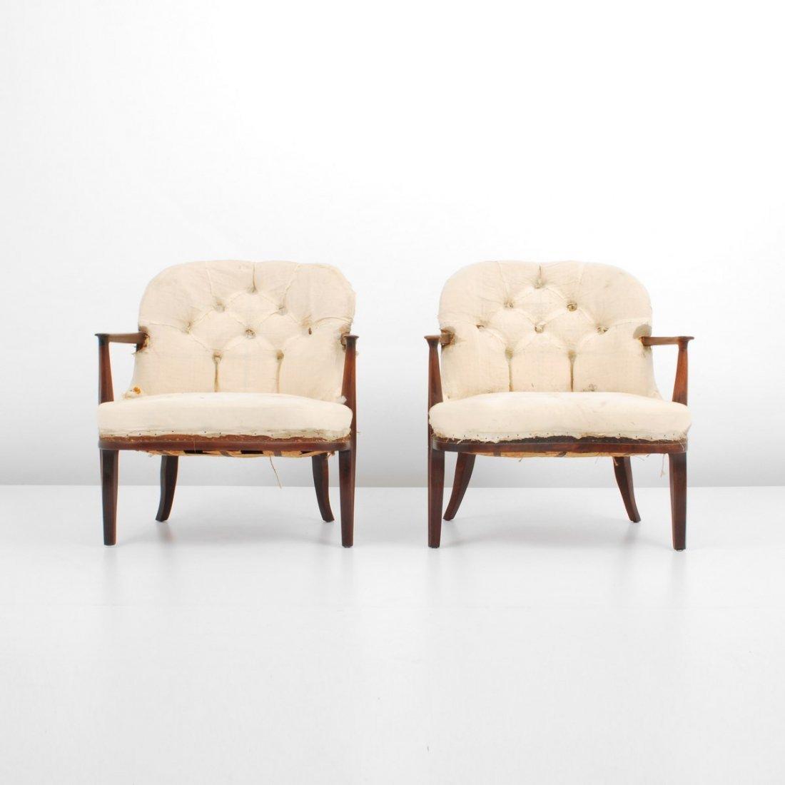 "Pair of Edward Wormley ""Janus"" Lounge Chairs"