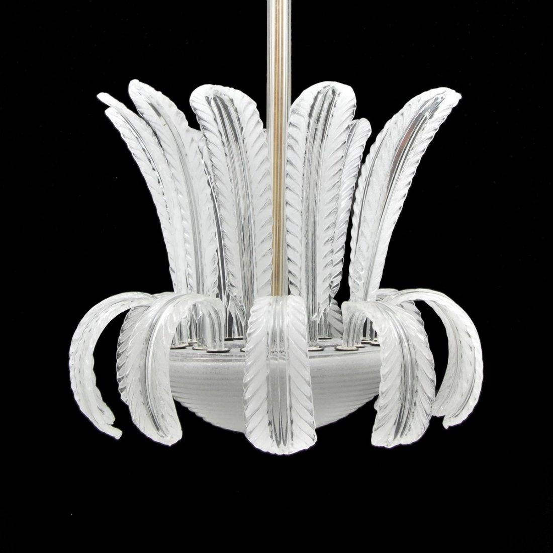 """Feather"""" Chandelier Barovier & Toso"""