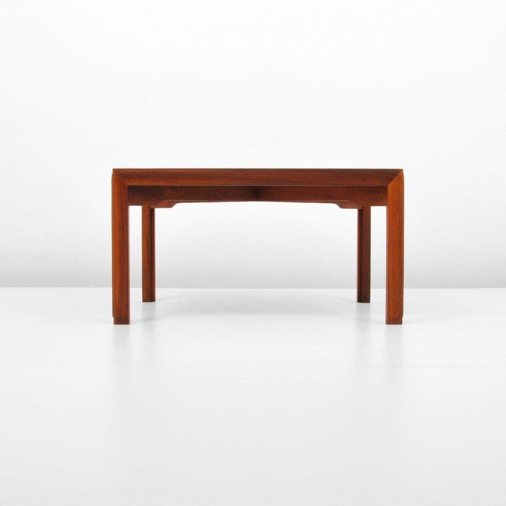 Edward Wormley Table, Natzler Tile Inserts