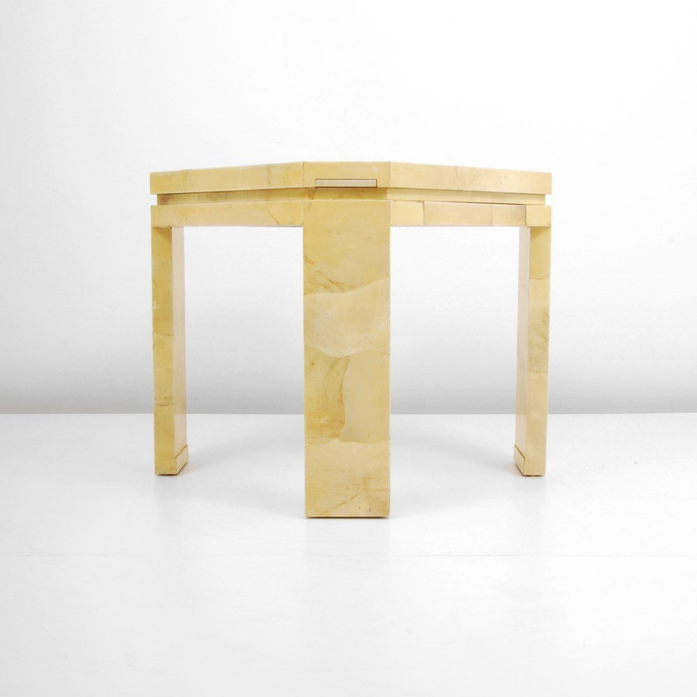 Lacquered Goatskin Game Table, Manner of Karl Springer - 2