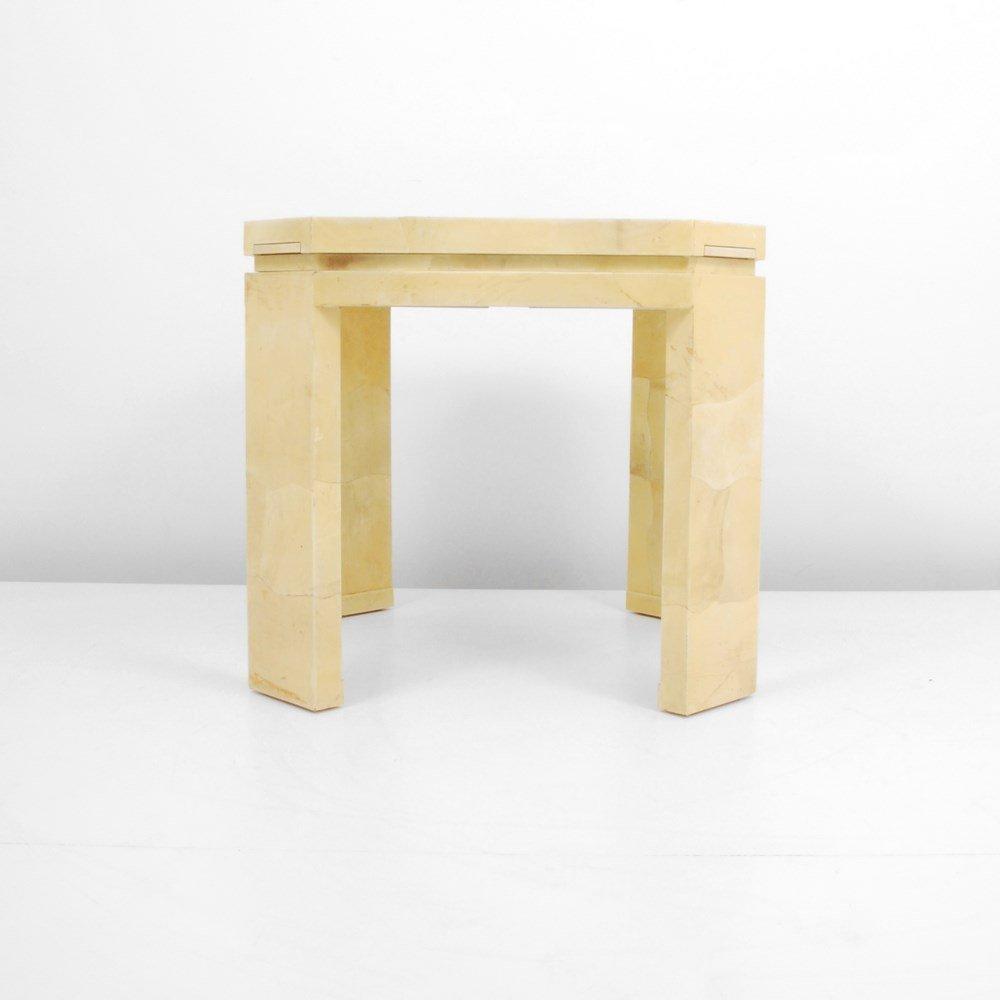 Lacquered Goatskin Game Table, Manner of Karl Springer - 4