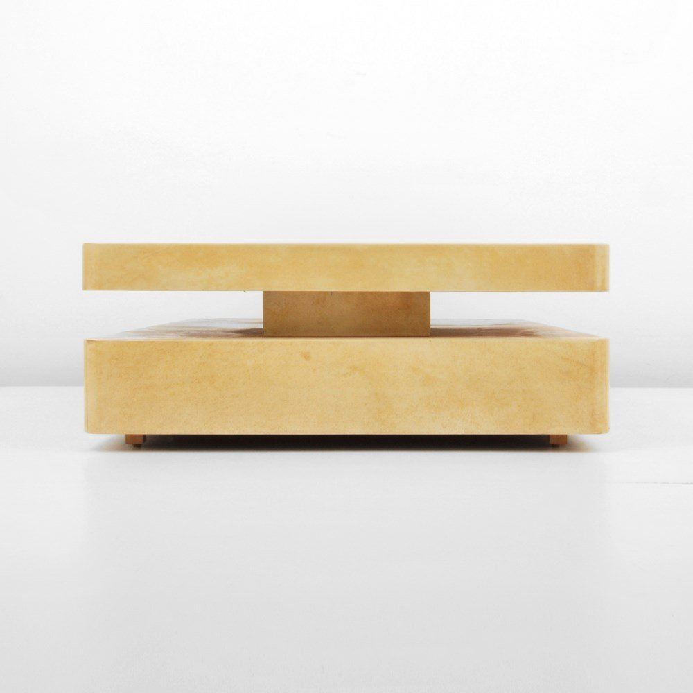 Lacquered Goatskin Table, Manner of Karl Springer