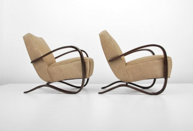 "Pair of Jindrich Halabala ""H269"" Lounge Chairs"