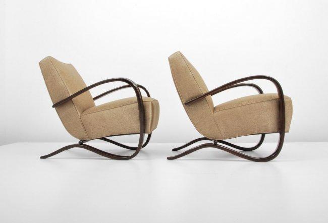 "Pair of Jindrich Halabala ""H269"" Lounge Chairs"