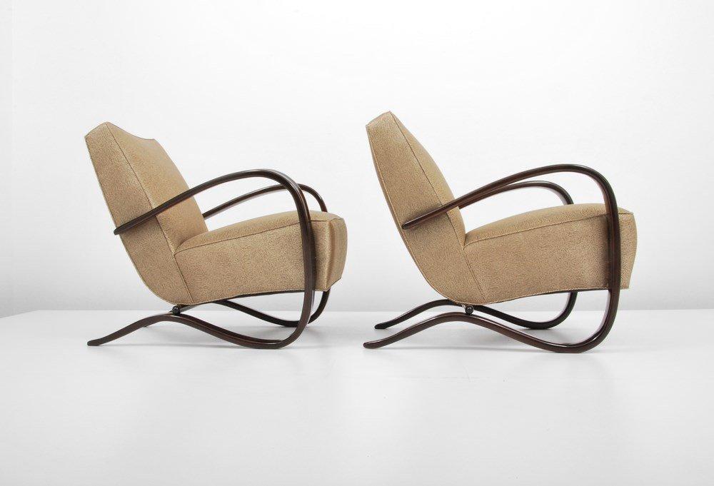 "Pair of Jindrich Halabala ""H269"" Lounge Chairs - 3"