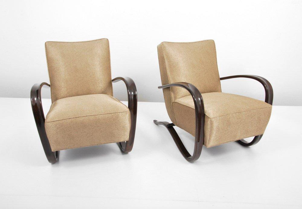 "Pair of Jindrich Halabala ""H269"" Lounge Chairs - 4"