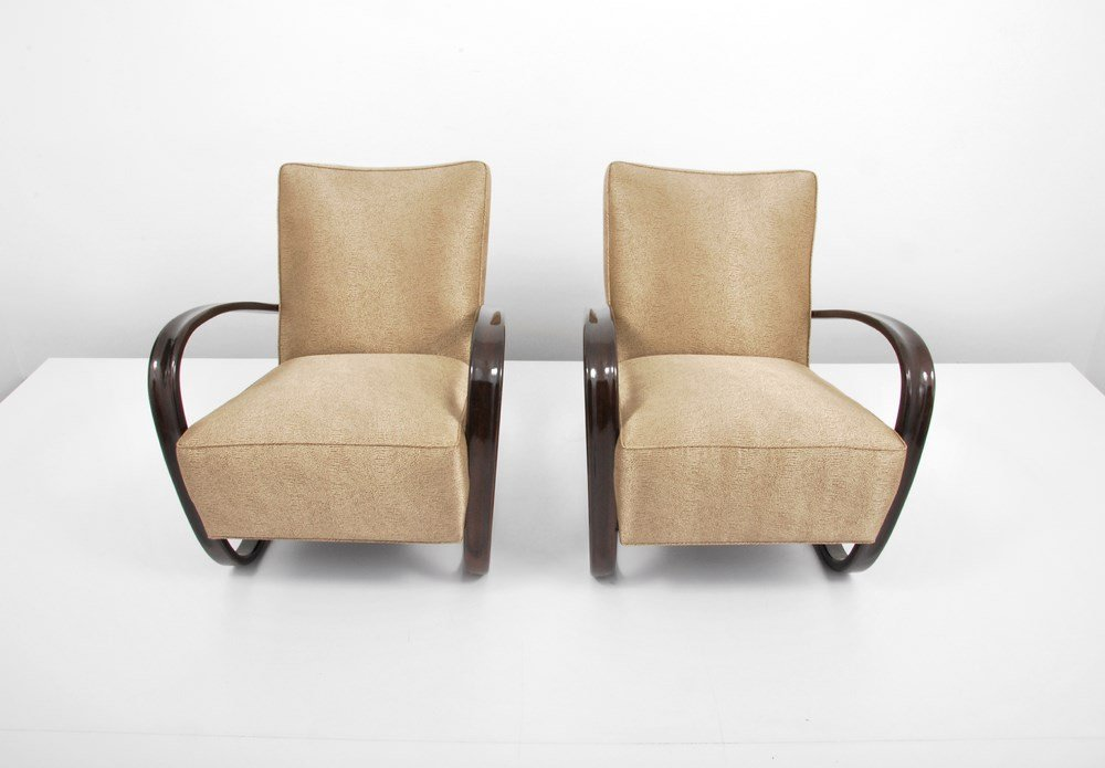 "Pair of Jindrich Halabala ""H269"" Lounge Chairs - 5"