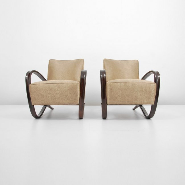 "Pair of Jindrich Halabala ""H269"" Lounge Chairs - 6"