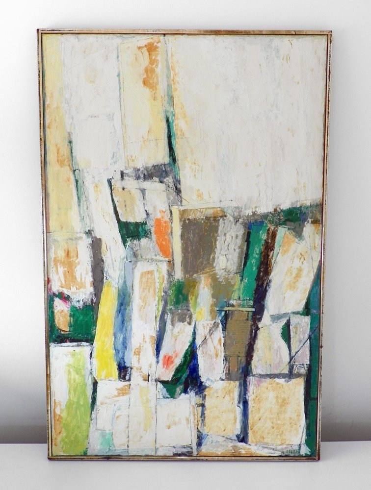 Large Arthur Osver Abstract, Original Painting - 2