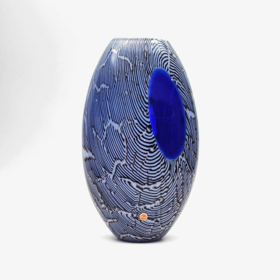 """Large Giampaolo Seguso """"Elisse"""" Vase, Limited Edition"""