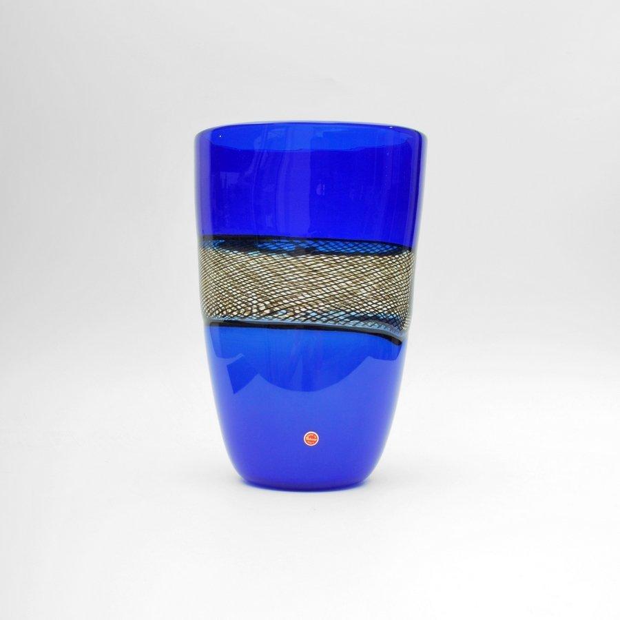 """Giampaolo Seguso """"Blu Reticello"""" Vase, Limited Edition"""