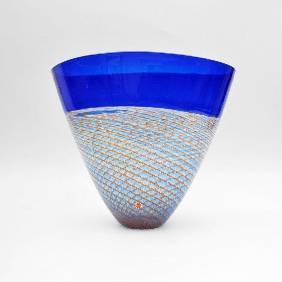 """Giampaolo Seguso """"Rete Rossa"""" Vase, Limited Edition"""
