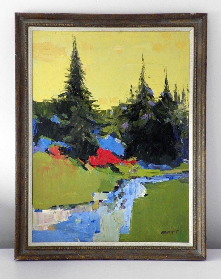 Large Italo George Botti Painting, Original Work - 2