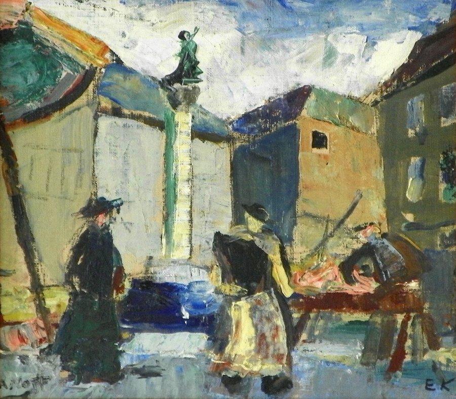 Einar Nielsen Korlind Painting, Original Painting