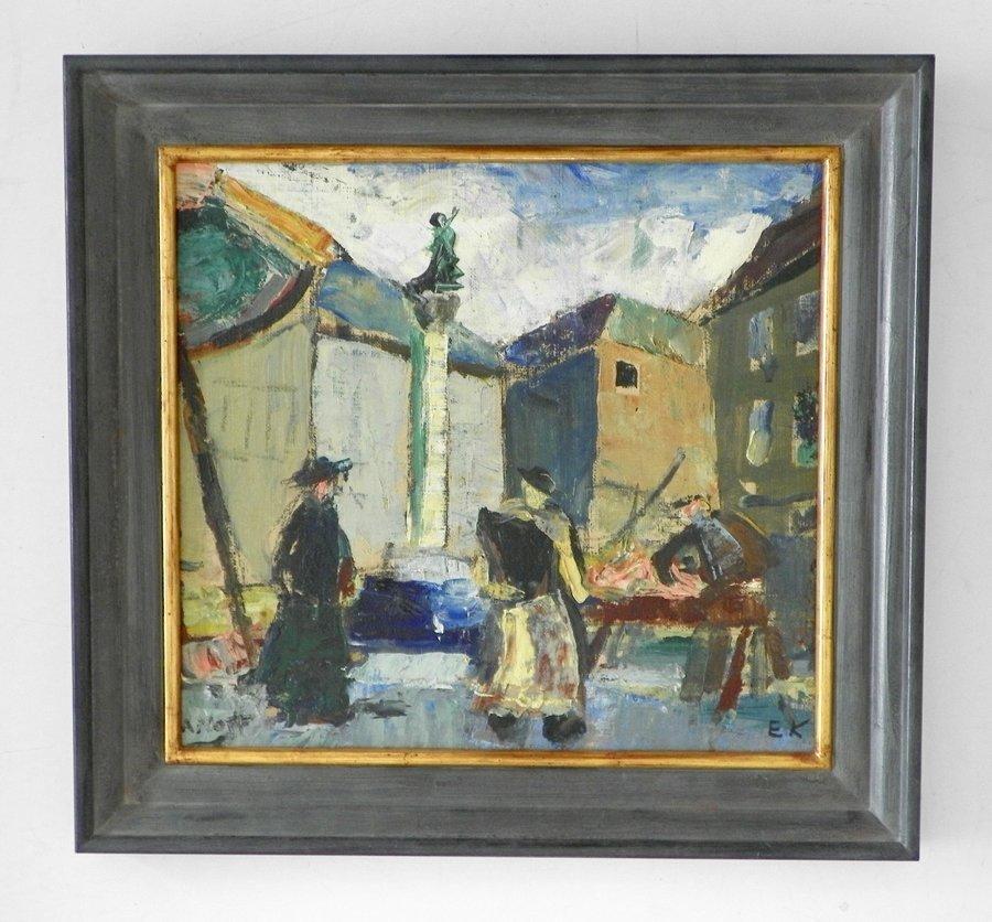 Einar Nielsen Korlind Painting, Original Painting - 2