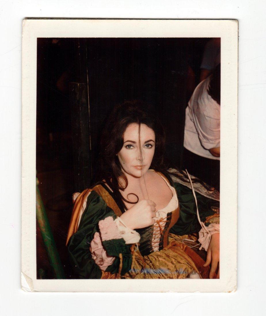 Polaroid of Elizabeth Taylor; Tiziani + Lagerfeld + Liz
