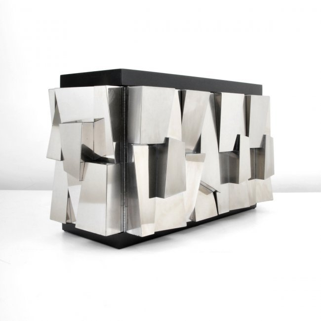 "Paul Evans Faceted ""Cityscape"" Cabinet"