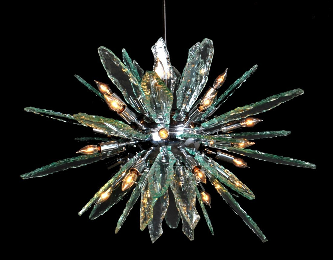 Italian Chandelier, Manner of Fontana Arte
