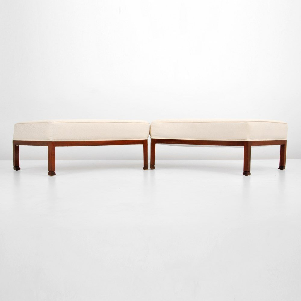 Pair of Benches/Ottomans  Attributed to Baker Furniture