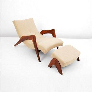 Fabulous Adrian Pearsall Prices 971 Auction Price Results Creativecarmelina Interior Chair Design Creativecarmelinacom