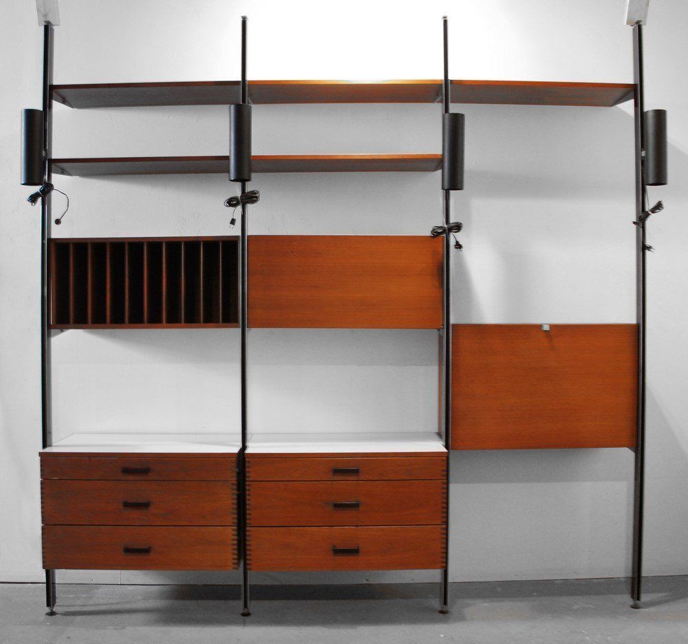 "Large George Nelson ""CSS"" Desk/Shelving System"