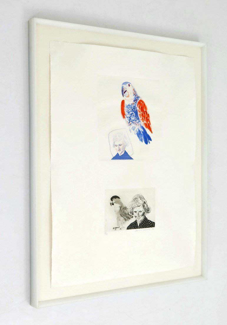 David Hockney 'Mother With Bird', Signed Edition - 2