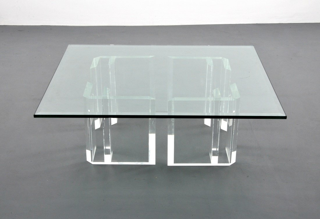Jeffrey Bigelow Lucite Coffee Table - 2