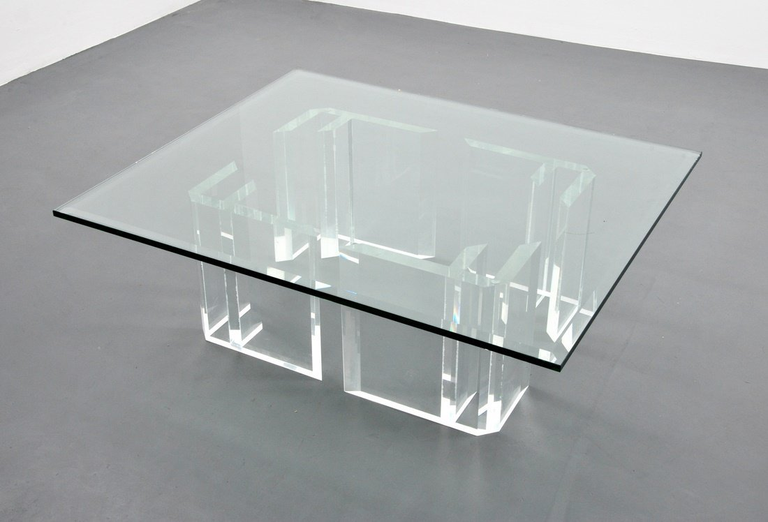 Jeffrey Bigelow Lucite Coffee Table - 3