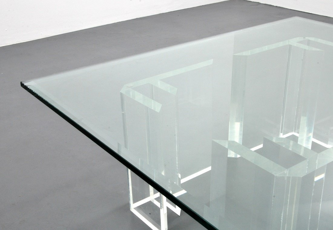Jeffrey Bigelow Lucite Coffee Table - 4