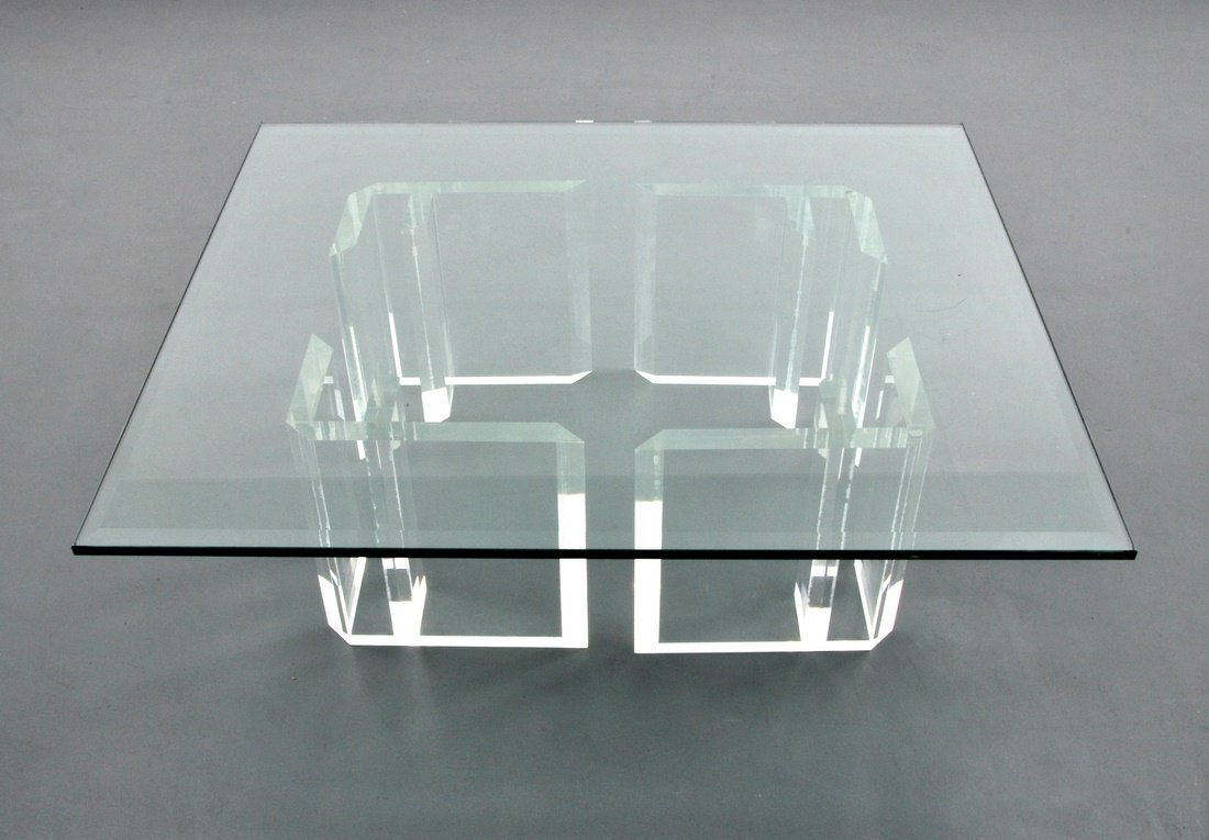 Jeffrey Bigelow Lucite Coffee Table - 5