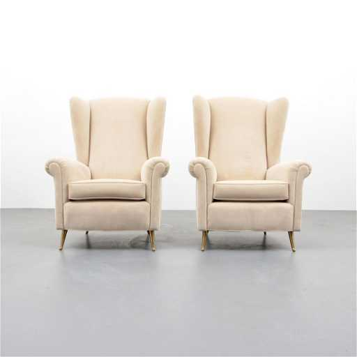 Pair of lounge chairs attributed to paolo buffa for Furniture 63366