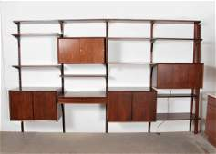 Large Poul Cadovius Rosewood Wall Unit