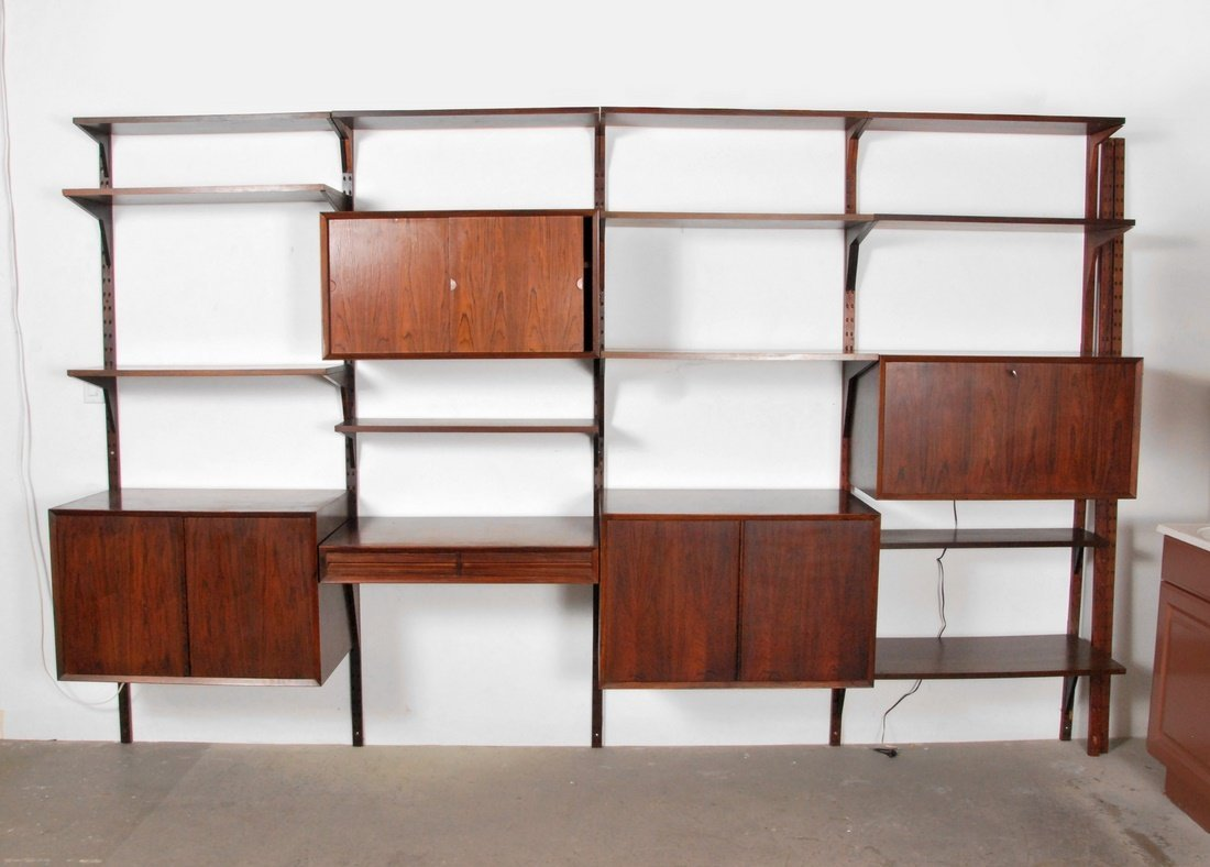 Large poul cadovius rosewood wall unit lot 0760 for Furniture 63366